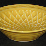 Homer Laughlin Harlequin Basket Weave Nut Dish � yellow