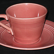 Homer Laughlin Harlequin Demitasse cup & saucer � Rose
