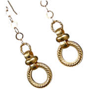 SALE Swinging Discs Gold Filled Earrings