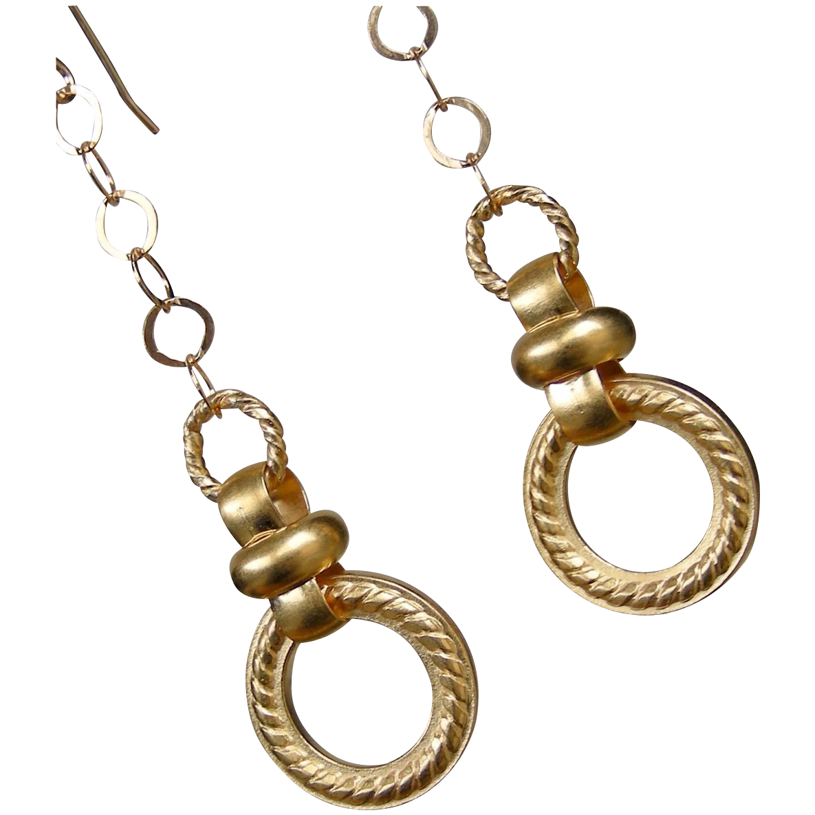 Swinging Discs Gold Filled Earrings