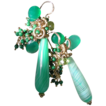 Emerald Green Onyx, Agate, Peridot, and Malachite Briolette Earrings
