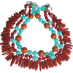 Clearance - Porcelain, Amazonite, Agate, and Red Sandstone Jasper Necklace