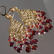 SOLD Garnet Chandeliers