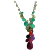 SALE Ruby, Emerald Onyx, Peridot, Garnet, Tourmaline, Amethyst, Lemon Quartz  Necklace