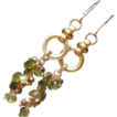 Tourmaline and Peridot Briolette Waterfall Earrings