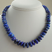 SALE Lapis Lazuli Hand Knotted Necklace