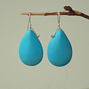 SALE Turquoise Howlite Southwestern Something Blue Earrings