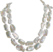 Long Baroque Pearls Necklace Hand Knotted with Rock Crystal - Opera Length 44&quot;