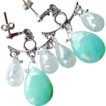 Chrysoprase Green Chandelier Earrings