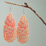 SALE Pink Roses Earrings