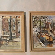 Pair of Prints by Listed Dutch Artist Jan Korthals