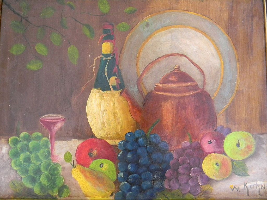Still Life Oil painting by Artist W Kuhn