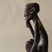 Wood Carving - Naked Old Man ...