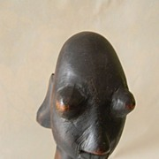 "Wood Sculpture Carved 10"" Figure"
