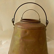 Hand Forged Copper Pail with Insert