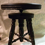 Vintage Piano Stool with Ball / Claw Feet