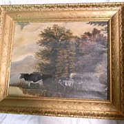 Cows on Canvas Oil Painting