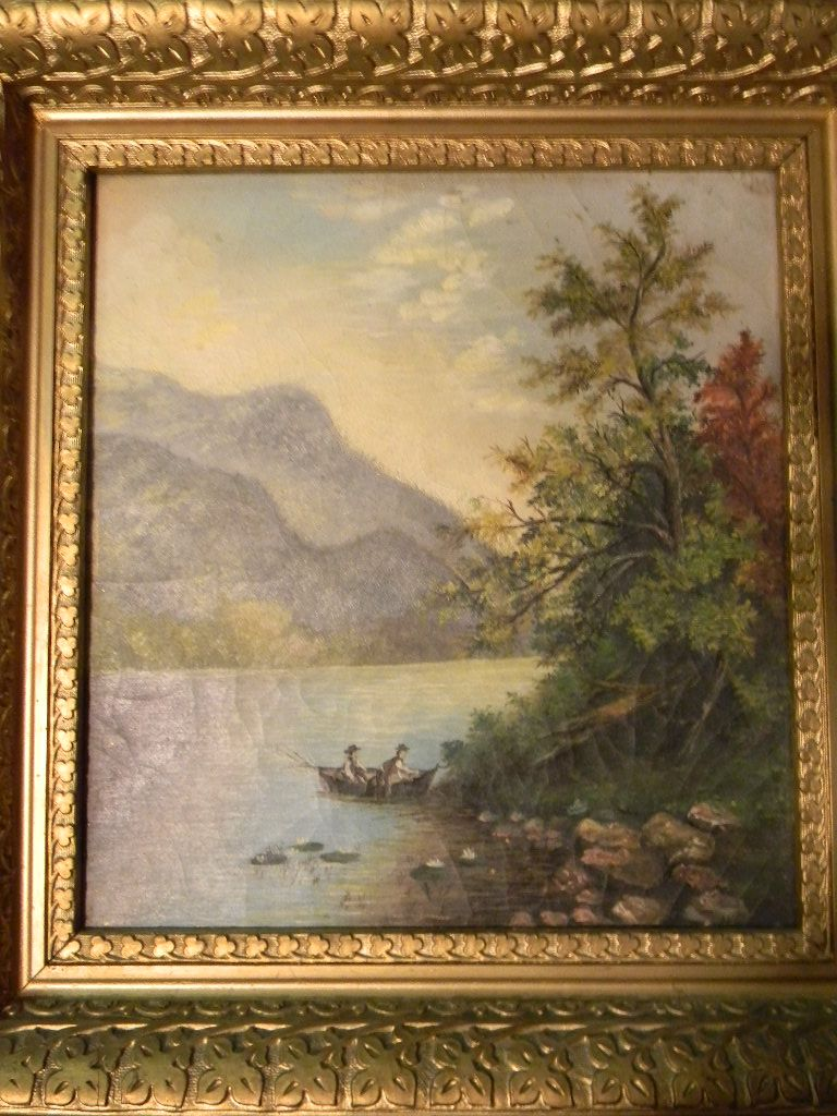 Older Hudson River Oil Painting Landscape