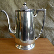 .Vintage Teapot Tea Pot International Silver Soldered 48  OZ
