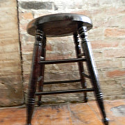 Antique 1820's - 1830's Wood Stool