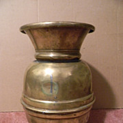 "11 3/4"" Tall Brass Spittoon"