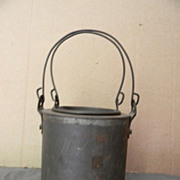 Antique Shaker Handmade Small Tin Pail with Insert