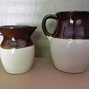 Vintage Pair Of Robinson Ransbottom Pottery . Roseville Ohio