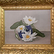 Still Life Lillies Oil Painting