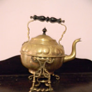 Brass Teapot Tea Pot with Holder