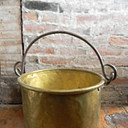 Antique 18th Century Large  Cauldron Kettle