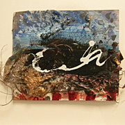 Juliet Holland . Abstract Mixed Media Wall Hanging . Relic # 1