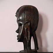 "9"" Wood Sculpture Head"
