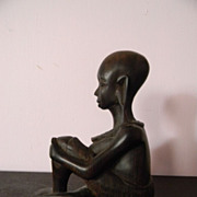 Wood Sculpture . Carved Lady Carving
