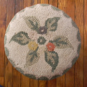 Footstool / Foot Stool with Needlework Top