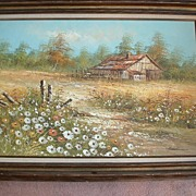 "Huge 43 1/2"" x 31 1/2"" Framed Oil on Canvas signed by Artist Henderson"