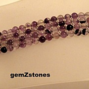 Shades Of Purple Four Strand Amethyst Bracelet