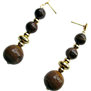 Natural Jupiter Jasper Dangle Earrings