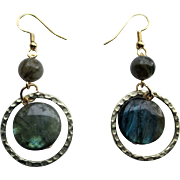 Elegant Labradorite Dangle Earrings