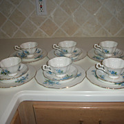 Vintage Royal Albert Forget Me Not Bone China Dessert Set