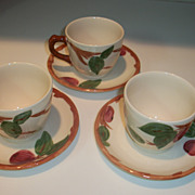 Vintage Franciscan Apple Cup and Saucer Sets