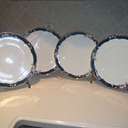 Noritake Sandhurst Dinner Plates Set of Four (4)