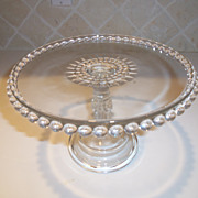 Vintage Cambridge Candlewick Footed Cake Stand