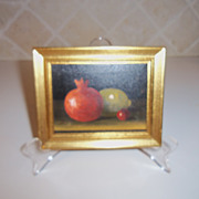 Fruit Mini Still Life Oil Painting Signed