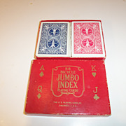 Bicycle Jumbo Index Playing Cards  U.S.Playing Card Co.