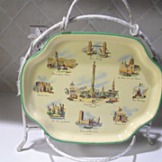 Worcester Ware Tray with London Matching Coaster Set