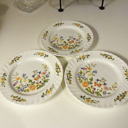 John Aynsley Cottage Garden Bread Plates