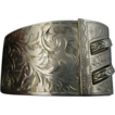 Rare Art Nouveau Engraved Birmingham Sterling Cuff Bracelet - Superb
