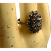 Early Art Deco Bohemian Garnet Silver Ring ~ Superb