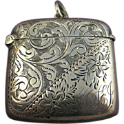 SOLD Antique Edwardian Silver Finely Chased Vesta ~ Locket ~ Birmingham c1901