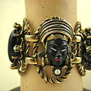 Selro 1950's Blackamoor Bracelet  - Rare Superb Condition